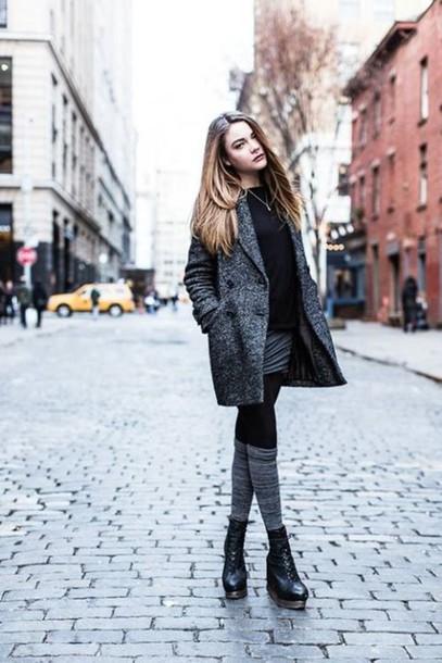 coat grey grey grey coat boots