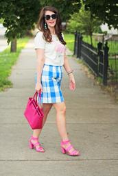 brightonabudget,blogger,top,skirt,jewels,bag,shoes,mini skirt,handbag,sandals,spring outfits,pink sandals,baloon