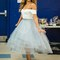 Aliexpress.com : buy off the shoulder grayish blue high low prom dresses tea length homecoming dresses vintage formal dresses from reliable dress usa suppliers on mypromdresses | alibaba group