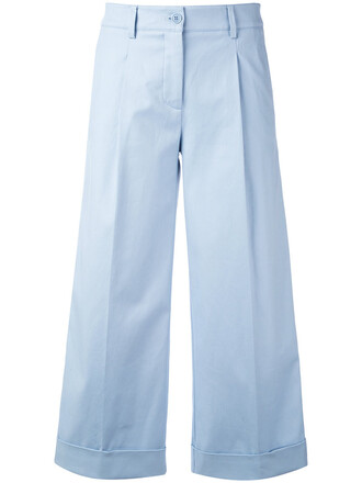 denim cropped women spandex cotton blue pants