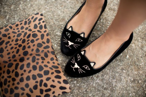 leopard print animal print bag clutch shoes blogger cats cute flats hipster black pouch