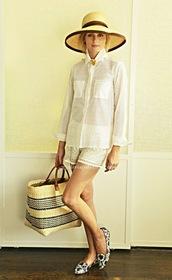 blouse,olivia palermo,shorts,shoes