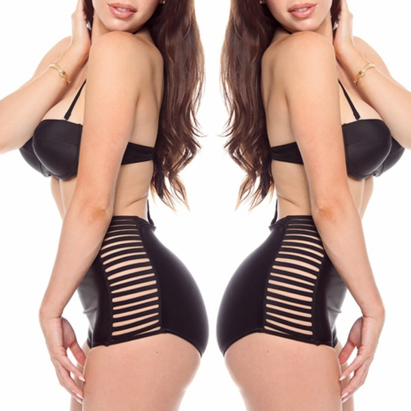 swimwear black swimwear bikini swimwear halter top swimsuit halter top