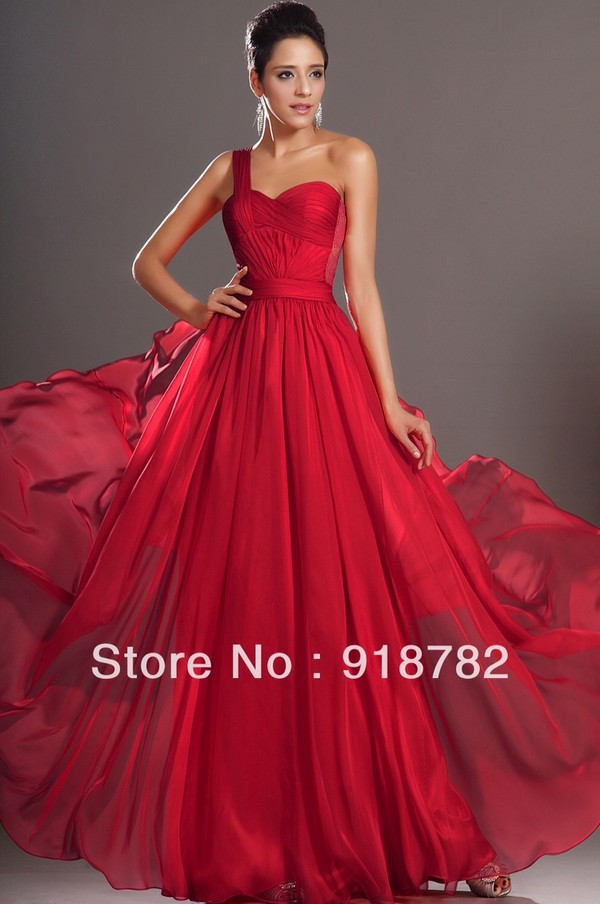 dress red formal