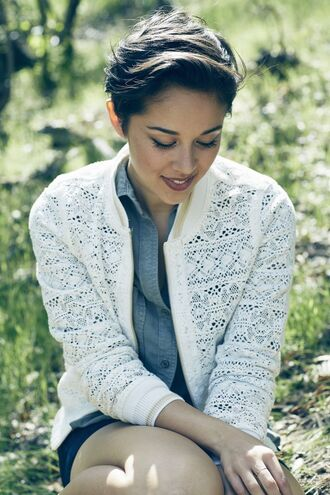 kina grannis white white sweater