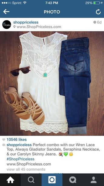 jeans blouse