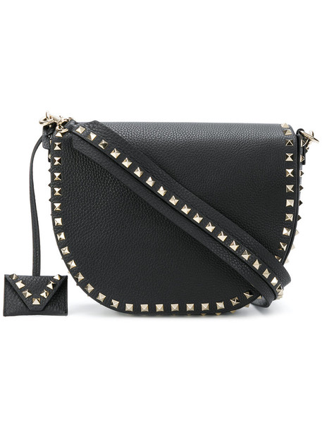 Valentino women bag shoulder bag leather black