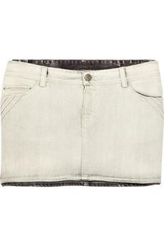 Discount IRO Kavate denim mini skirt|THE OUTNET