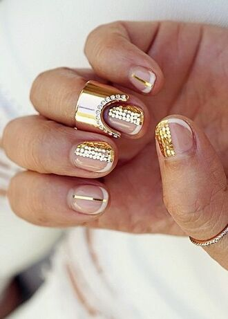 nail polish nail art gold nails glitter nails glitter negative space nail art
