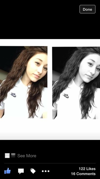 t-shirt nike top polo short shirt white black