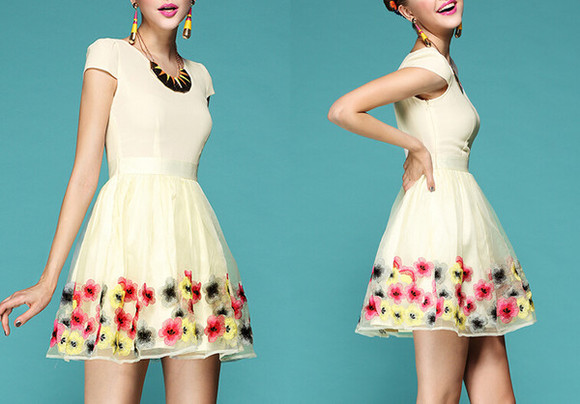 skirt floral cute top floral skirt cute dress dress t-shirt clothes fashion