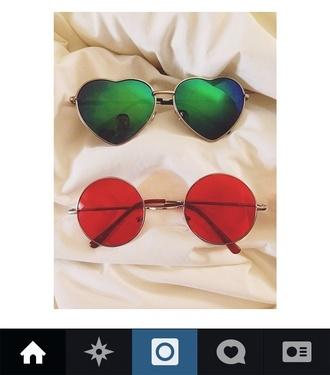 sunglasses red sunglasses heart sunglasses lohanthony