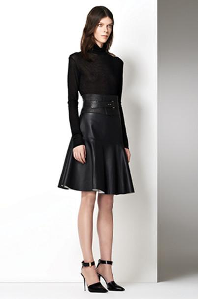 skirt lookbook fashion j brand sweater belt