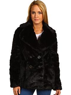 Juicy couture faux fur teddy bear coat black