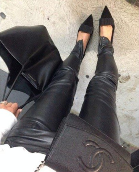 jeans fashion purse black boots style bag high heels