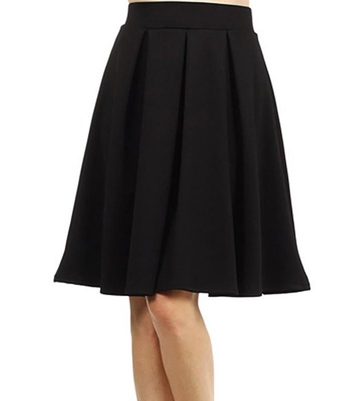 skirt half wheel with pleated kissed
