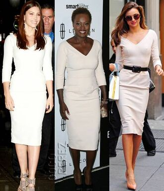 dress jessica biel victoria beckham long dress white dress celebrity style style stealer clothes