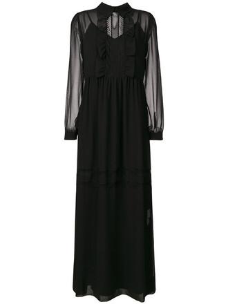 dress maxi dress maxi women lace cotton black
