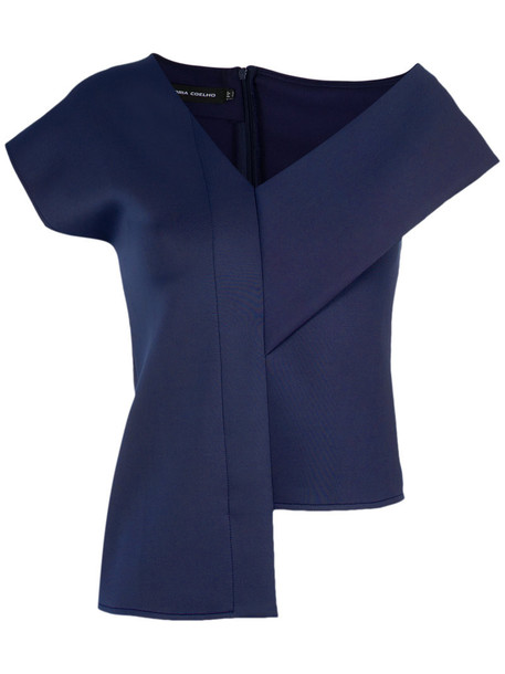 Gloria Coelho blouse women blue top