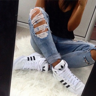 shoes adidas shoes black white jeans adidas snickers sneakers