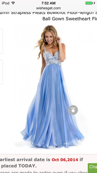 prom dress sweetheart dresses beading baby blue prom dress