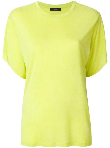 Diesel t-shirt shirt t-shirt women yellow orange top