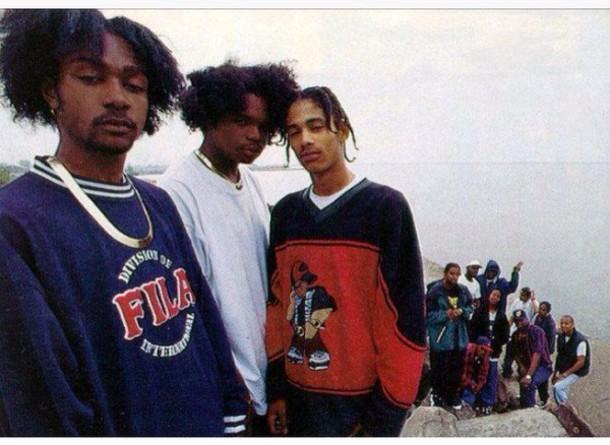 sweater bone thugs red blue hip hop apparel