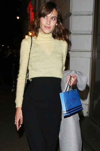 sweater crop tops cropped sweater turtleneck alexa chung