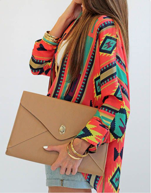 coat clutch tribal pattern aztec tribal cardigan cardigan