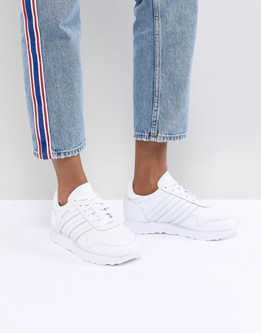 adidas Originals Made In Germany Haven Sneakers In Premium White Leather at asos.com
