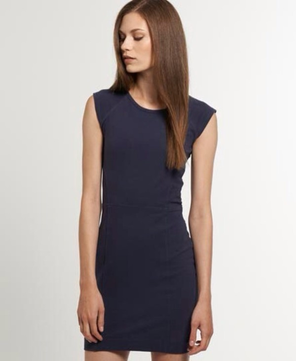 dress navy superdry bodycon