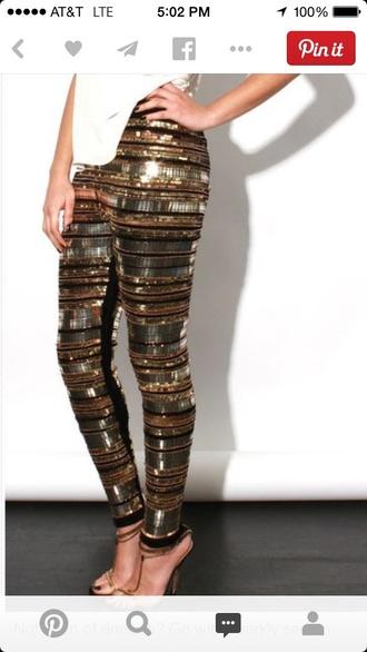 leggings sequin pants sequins