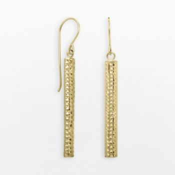 Everlasting Gold 14k White Gold Stick Drop Earrings