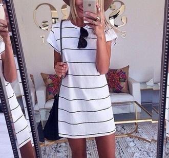 dress shirt dress stripes black white
