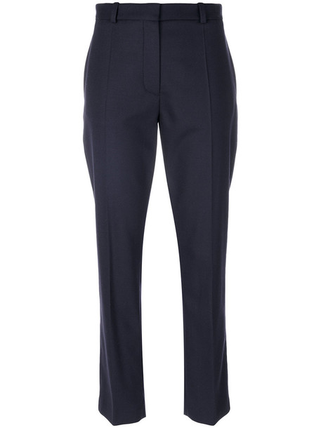 Joseph - tailored pants - women - Spandex/Elastane/Viscose/Wool - 40, Blue, Spandex/Elastane/Viscose/Wool