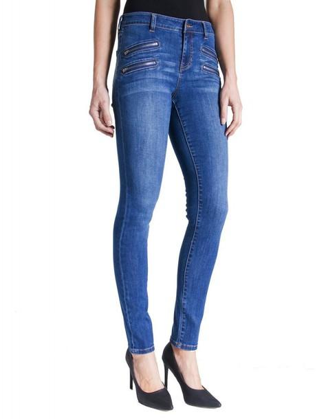 Liverpool jeans blue jeans zip blue