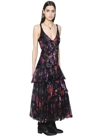 dress silk multicolor