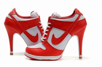 shoes high heels red nike stilettos red nike high heels nike high heel pumps oxford tyle blue sneakers dark blue sneakers awesomness