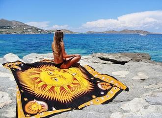 home accessory blanket sun sun blanket summer holidays