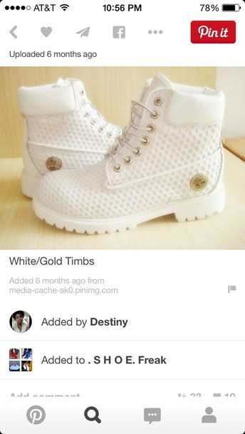 shoes timberland gold chain