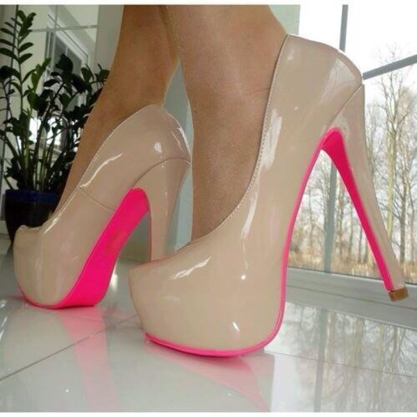 shoes heels crystal pumps hight heels red sole shiny sparkle rose