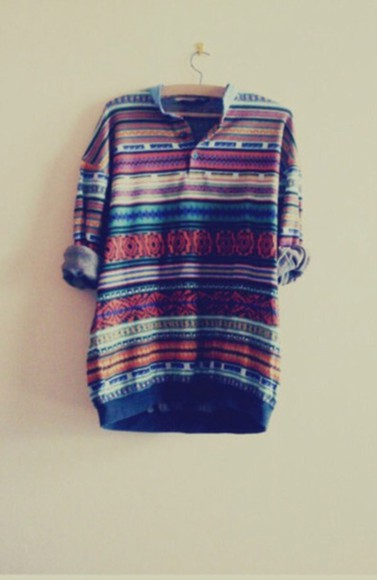 multicolor stripes sweater