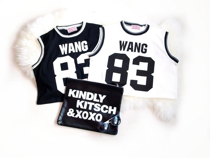 Wang 83 crop top black