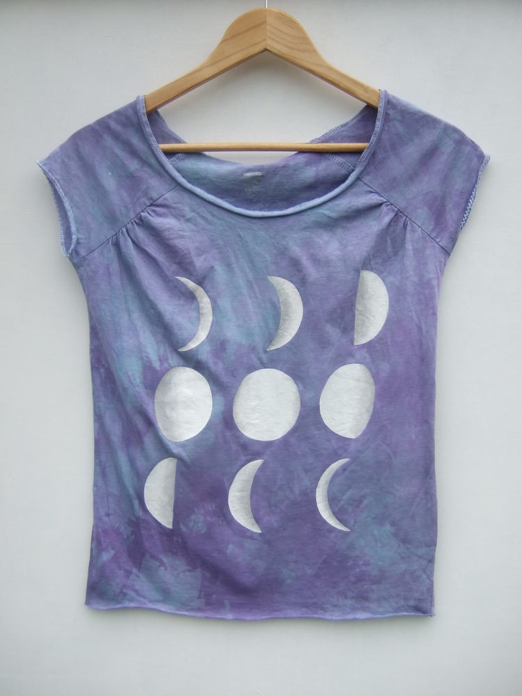 Dip Tie Dye Ombre Moon Phase Grunge Hipster Shirt