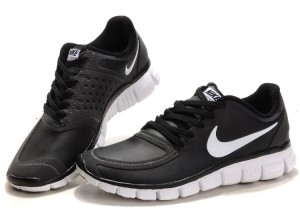 Black Friday Sales USA Women's Nike Free 5.0 Running Shoes Leather Black White