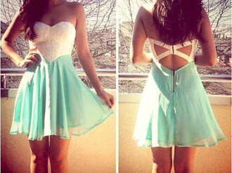 dress white lace blue dress white dress