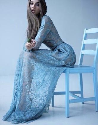 dress pll ice ball long sleeve dress blue dress blue light blue see through see through dress our favorite dresses 2015