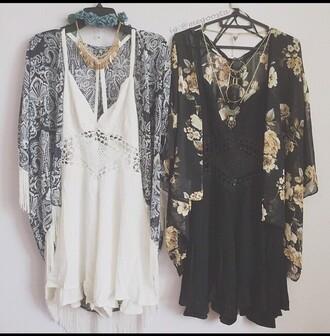 romper black dress little black dress white dress bohemian boho dress indie boho cardigan