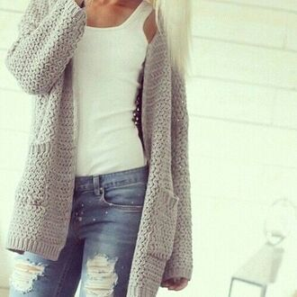 top classy fashion style coat winter jacket cute crochet cardigan lace up crop tops white outfit sexy hot denim blouse jacket holiday season winter sweater winter outfits sweater jeans pants ripped jeans grunge knitwear knitted sweater blue t-shirt shirt white t-shirt high waisted jeans high waisted lace streetwear streetstyle