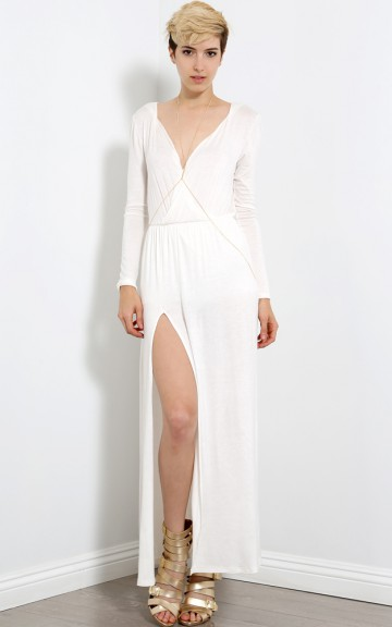Oh My Goddess Maxi Dress | MakeMeChic.com